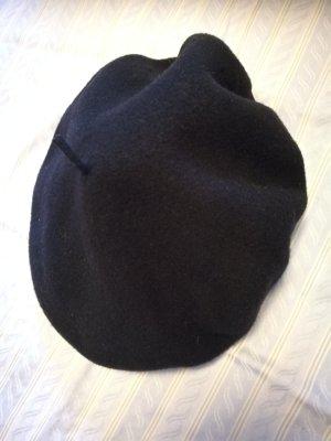 echte Baskenmütze dunkelblau Schurwolle