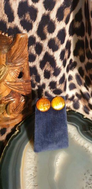 Earclip gold orange-light orange