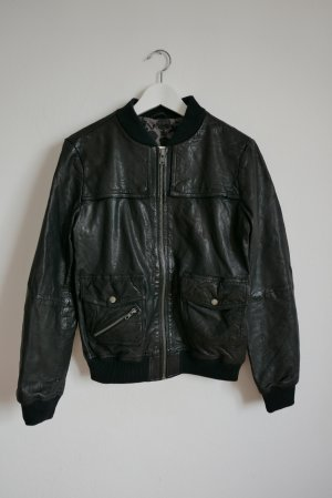 Billabong Leather Jacket black leather