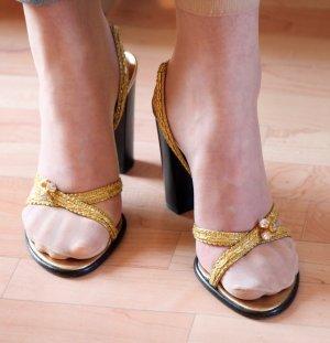 Dolce & Gabbana Mule à talon multicolore cuir