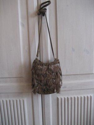 Echte Fransenledertasche von Zara