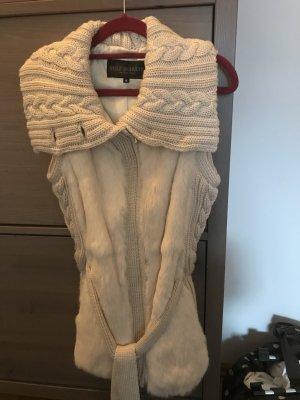 Rolf Schulte Smanicato di pelliccia crema Pelliccia