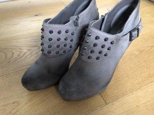 ASH Bottines à plateforme gris cuir