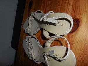echte Leder High Heels, weiss