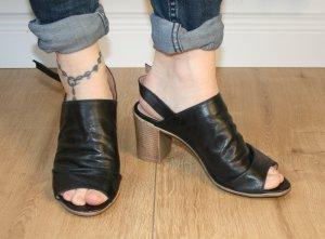 echte Leder Peep Toes Sandalen