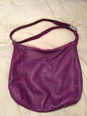 Echte Leder Tasche von Kipling, lila/magentafarben