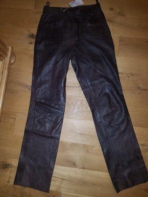Raberg Pantalón de cuero marrón