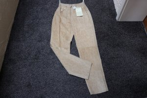 #Echte Lederhose, Gr. 36, #beige, #Schlangenprint, #NEU, #Class International