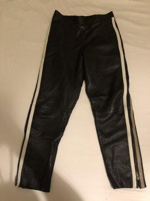 Summum Pantalone in pelle nero-bianco Pelle