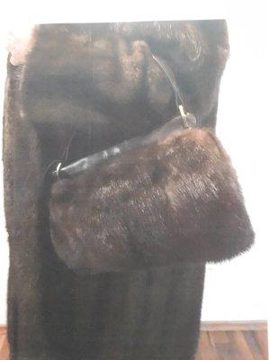 Pouch Bag brown-light brown fur