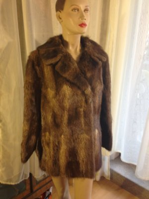 100 Pelt Jacket cognac-coloured-bronze-colored pelt