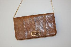 Shoulder Bag light brown-gold-colored leather