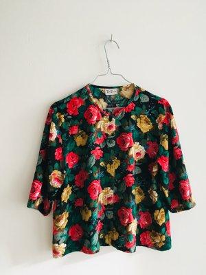 Echte Vintage Bluse mit Blumenmuster