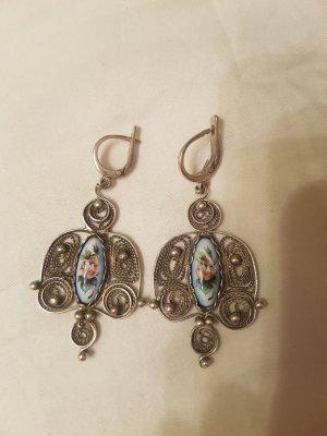 Echte vintage Ohrringe Emaille