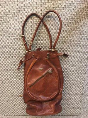 Echte Vintage Renato Angi Ledertasche Bucketbag Tennistasche Weekender Beutel Rucksack