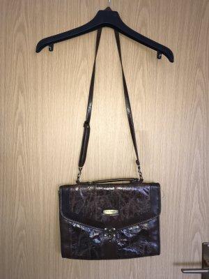 Echte Vintage Tasche von Marc Chantal, braun, leder