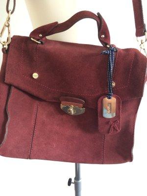Echte Wildleder Handtasche im College-Style von ESPRIT