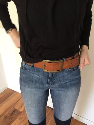 Vintage Leather Belt cognac-coloured-brown