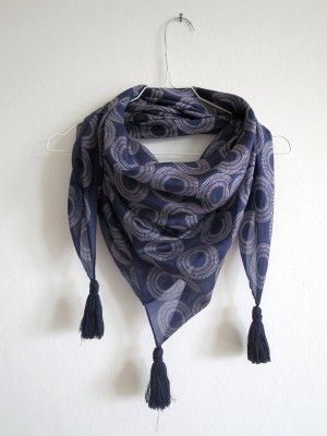 Kauf Dich Glücklich Panno di seta blu scuro-grigio chiaro Seta