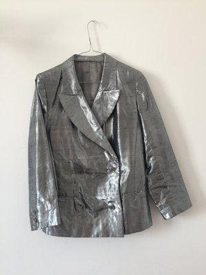 Vintage Blazer de esmoquin color plata