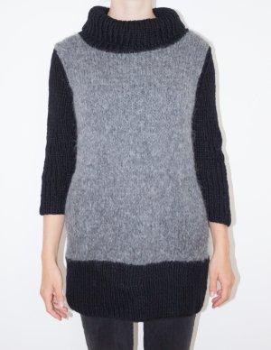 Echter Wollpullover mit coolem abstraktem Muster