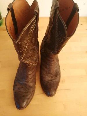 echtes Krokodil Cowboy Boots