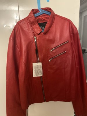 0039 Italy Leather Jacket dark red