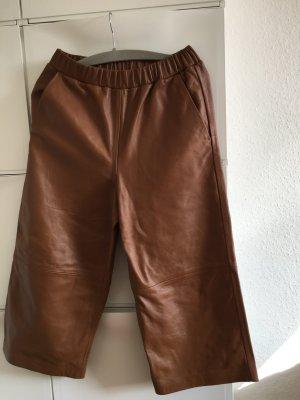 Echtes Leder Culottes  Weite Hose