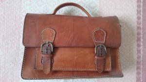 College Bag cream-cognac-coloured leather