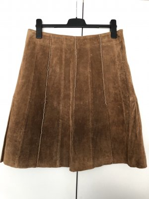Vero Moda Leather Skirt light brown
