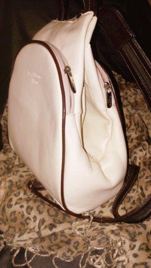 Echtes Leder Rucksack Blu Notte Moda Made in Italy