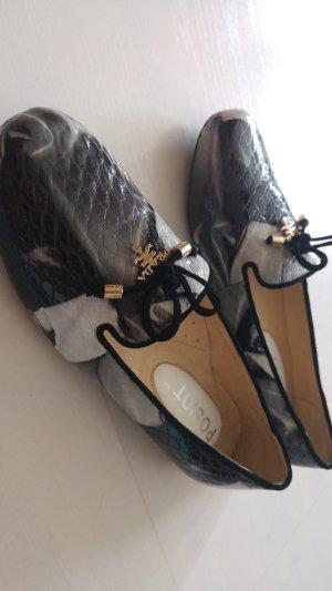 Pantoffels veelkleurig Leer