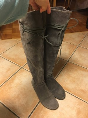 5th Avenue Botas altas gris Cuero