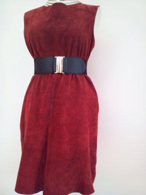 Echtes Wildleder Kleid in rot