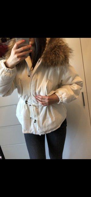 Giacca di pelliccia bianco
