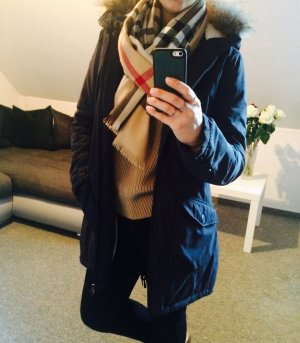 Bomboogie Fur Jacket dark blue polyester