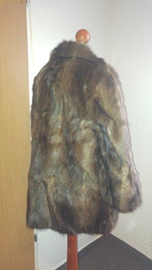 Abrigo de piel multicolor Piel