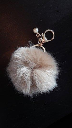 Echtfell Puschel Bommel Charm Anhänger Schlüssel Tasche Fell Fur