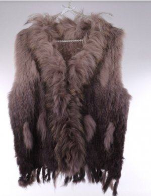 no name Fur vest multicolored