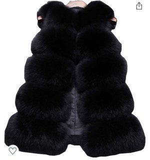 no name Fur vest black