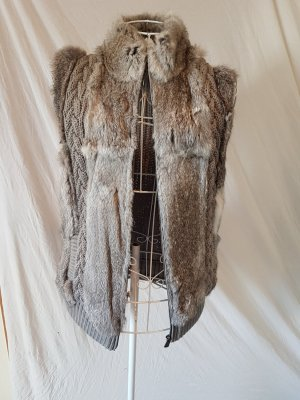Oakwood Fur vest grey-dark grey fur