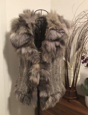 Echtfell Weste Pelz Fur /Ohne Size