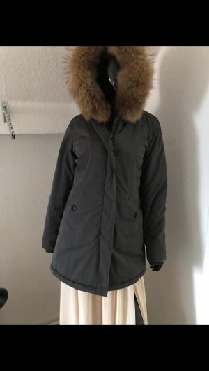 Attentif Manteau d'hiver gris foncé