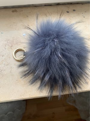 Key Chain anthracite fur