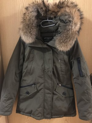 Attentif Down Jacket green grey