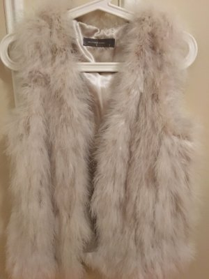 Hallhuber Fur vest cream-oatmeal fur