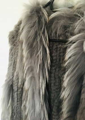 Blacky Dress Fur vest grey