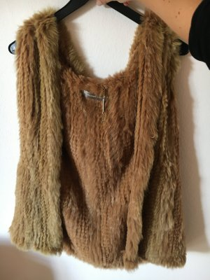 Donna by Hallhuber Fur vest sand brown-cognac-coloured