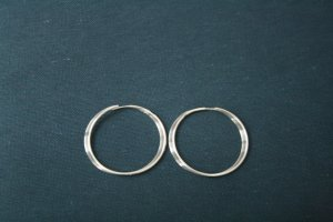 Ear Hoops rose-gold-coloured real gold