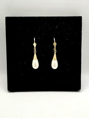 Echtgold Perlen Ohrringe